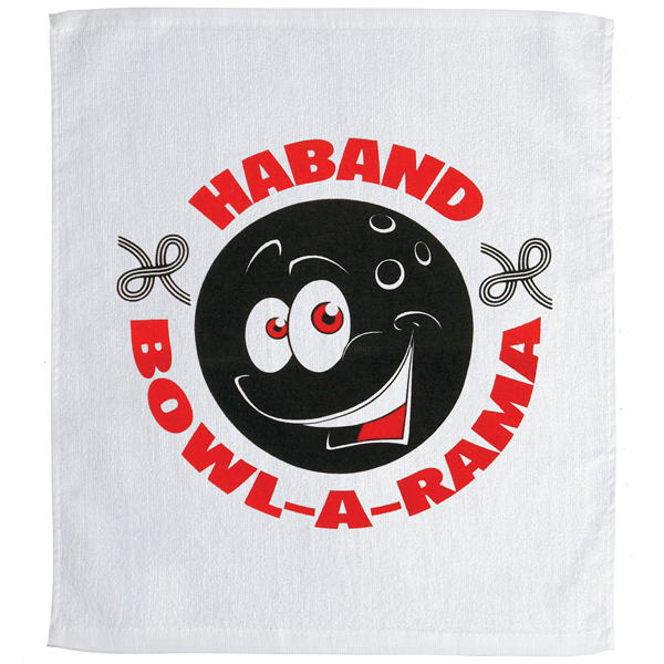 Promotional White Sport Rally Towel - Mega Special