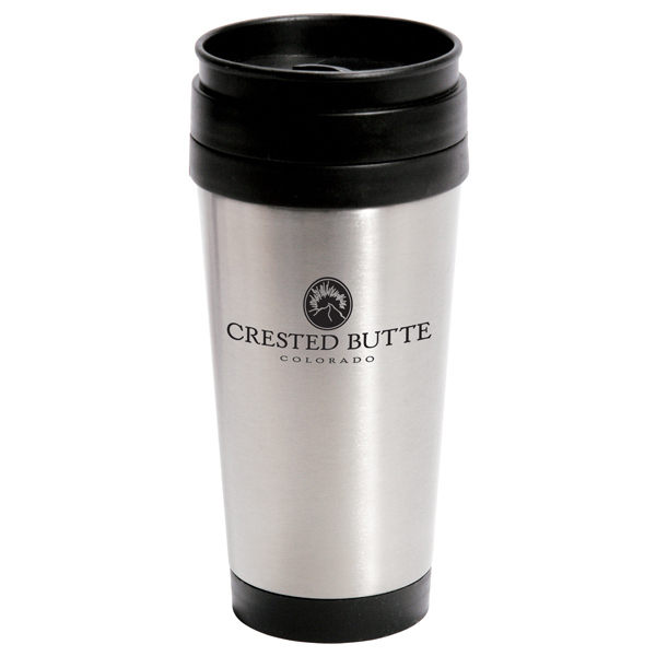 Imprinted 14 oz. Stainless Steel Travel Coffee Mug - Mega SpecialL