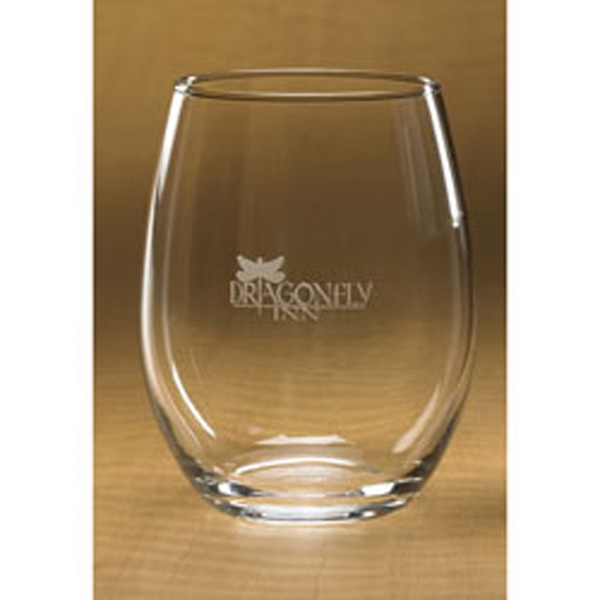 Customized Stemless White Wine Glass
