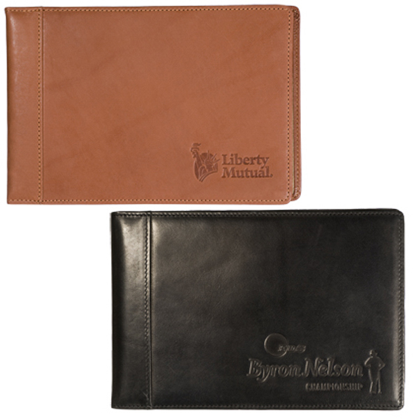 Customized Clearance York Sueded Full-Grain Leather Brag Book