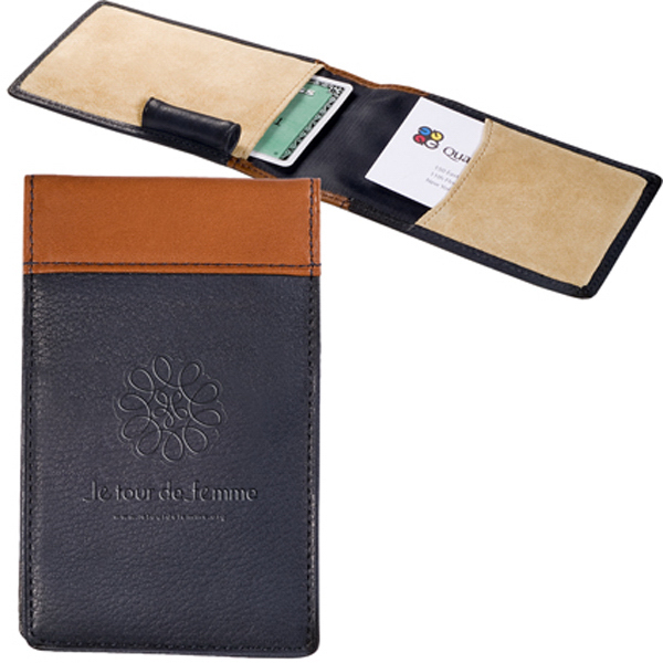 Promotional Clearance Sueded Full-Grain Leather Card Case