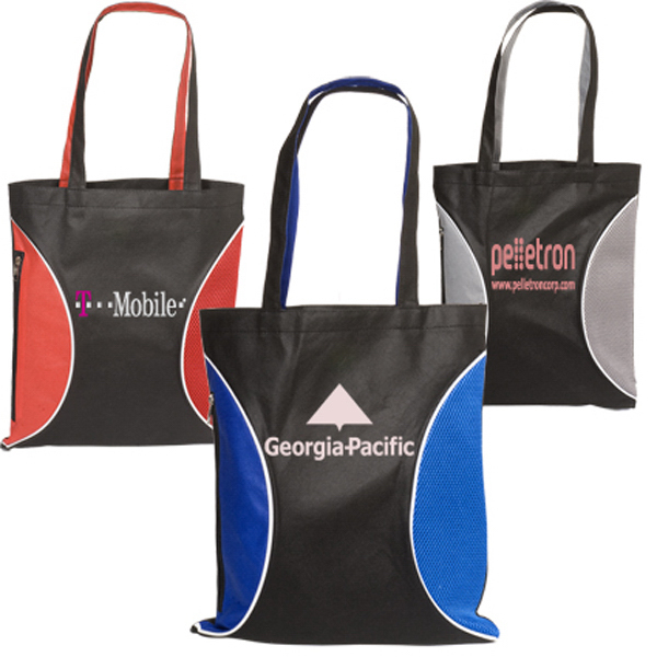 Customized Clearance Non-Woven Zipper Side Tote--100GSM