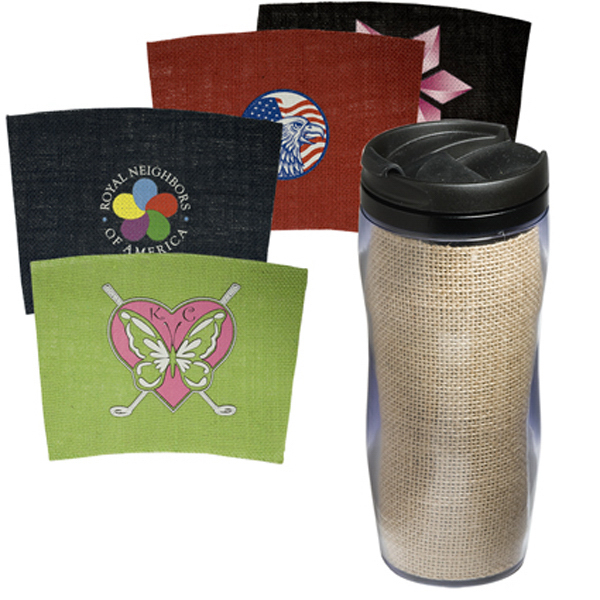 Custom Clearance Tumbler with Jute Insert