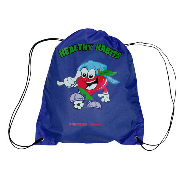 Imprinted Drawstring Backpack with Digital Imprint