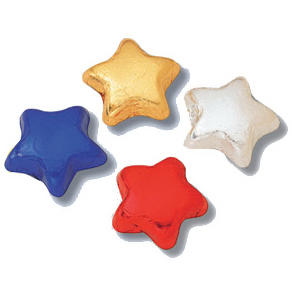 Imprinted Wrapped Foil Milk Chocolate Stars