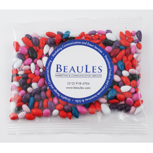 Printed Red Licorice Bites Candy in large handful pillow bag