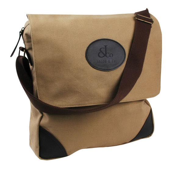 Imprinted Canvas vertical messenger