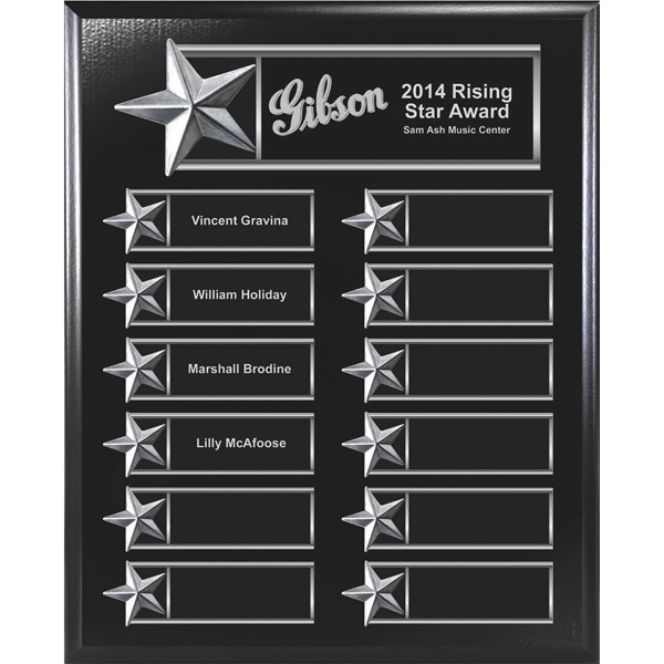 Customized 12-Plate Star Border Plaque