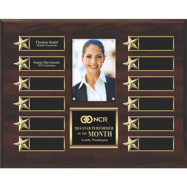 Personalized 12-Plate Star Border Photo Plaque
