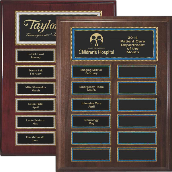 Imprinted Burl Border Easy Perpetual Plaques
