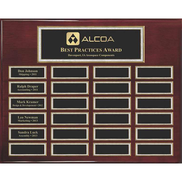 Customized Rosewood Piano 24-Plate Pearl Border Plaque