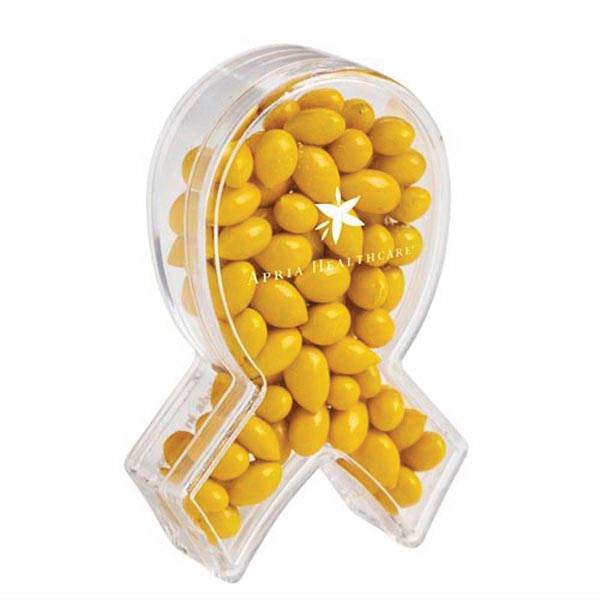 Promotional Ribbon Of Hope Candy Container With Sunflower Seeds