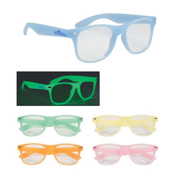 Imprinted Glow-In-The-Dark Glasses with Clear Lenses