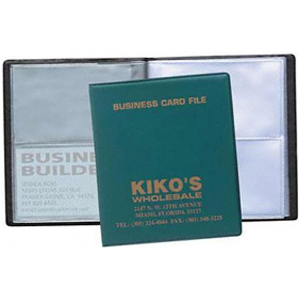 Custom 4 View Business Card File