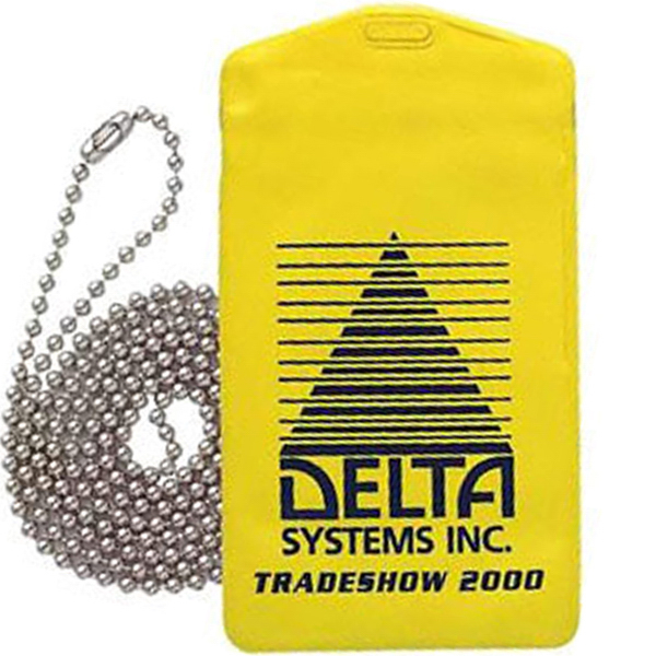 "Printed Waterproof Pouch with 30"" Beaded Neck Chain"