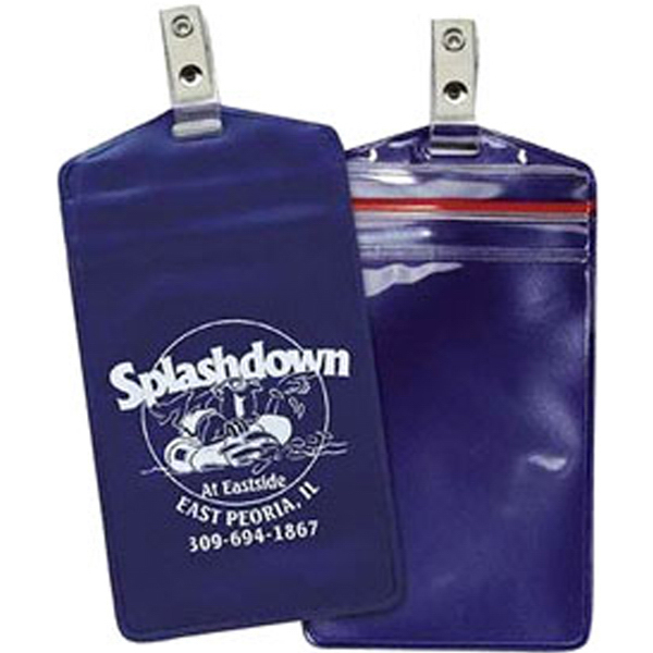 Promotional Waterproof Pouch with Removable Strap Clip