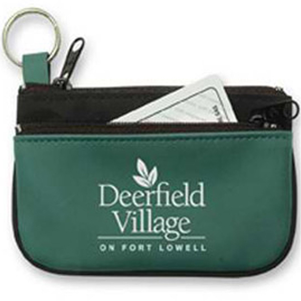 Promotional Mustang - Double Pocket Coin/Key Pouch with Key Ring