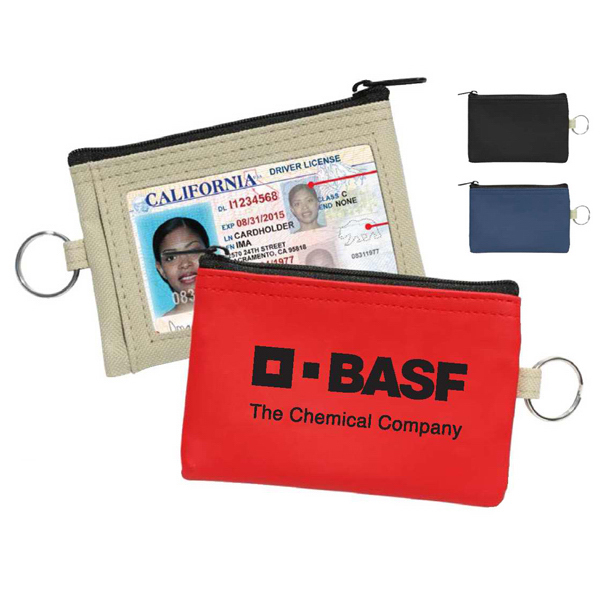 Personalized Nantes ID Coin/Key Pouch with ID Window Travel Pouch