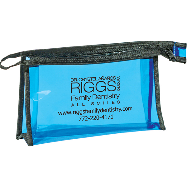 Personalized Pima - Zippered Amenities Bag
