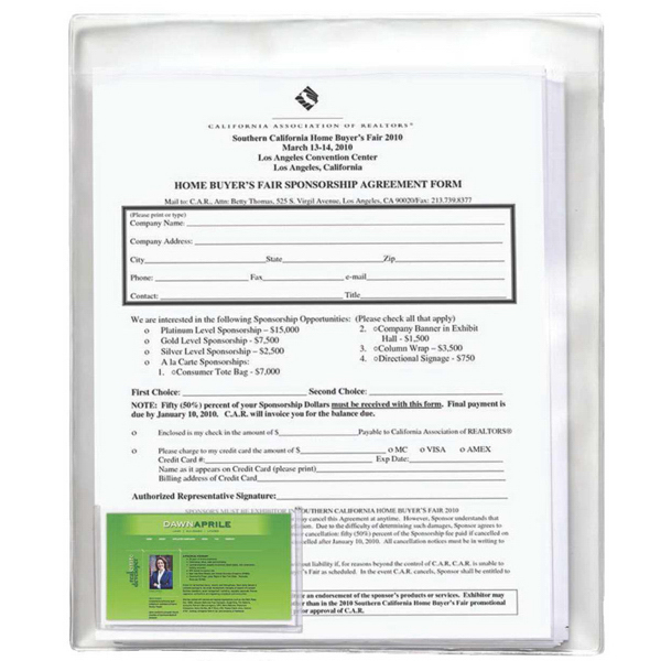 Customized Docu-Pack Clear View Document Holder