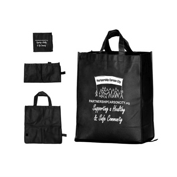 Printed Tsura Folding Grocery Bag - Non-Woven