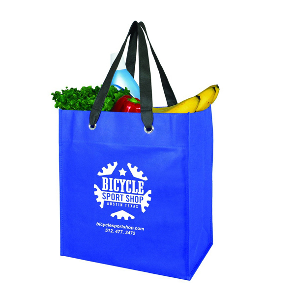 Custom Monte Oversized Grocery Bag with Grommet - Non-Woven