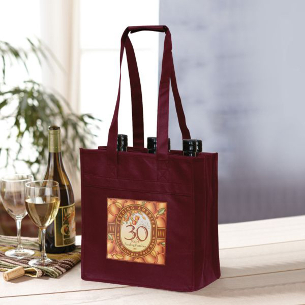 Printed Bodega 6 Wine Bottle Carrier - Non-Woven