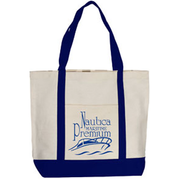 Imprinted Boat Mate Gusseted Canvas Boat Tote