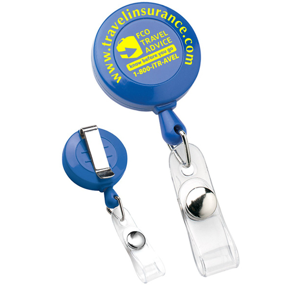 Promotional Deluxe Round Retractable Badge Holder