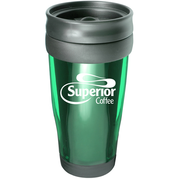 Imprinted Good Morning 15 oz. Translucent Travel Tumbler