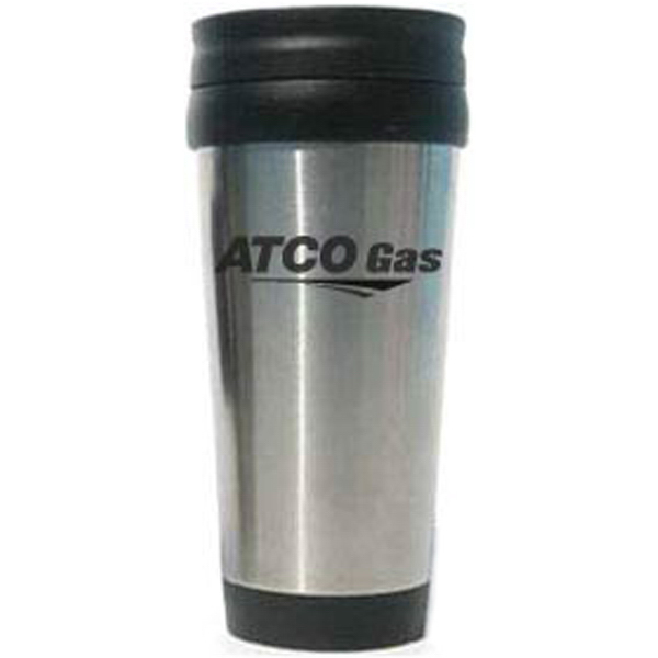 Imprinted Early Morning 15 oz. Stainless Steel Travel Tumbler
