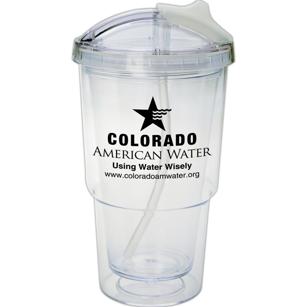 Promotional The Tahoe18 oz. Double Wall Translucent Plastic Tumbler