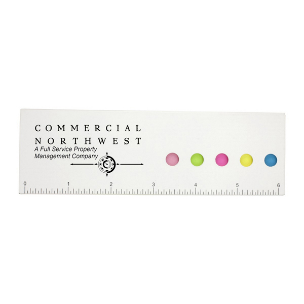 Imprinted Eco Aware Paper Ruler and Sticky Flags
