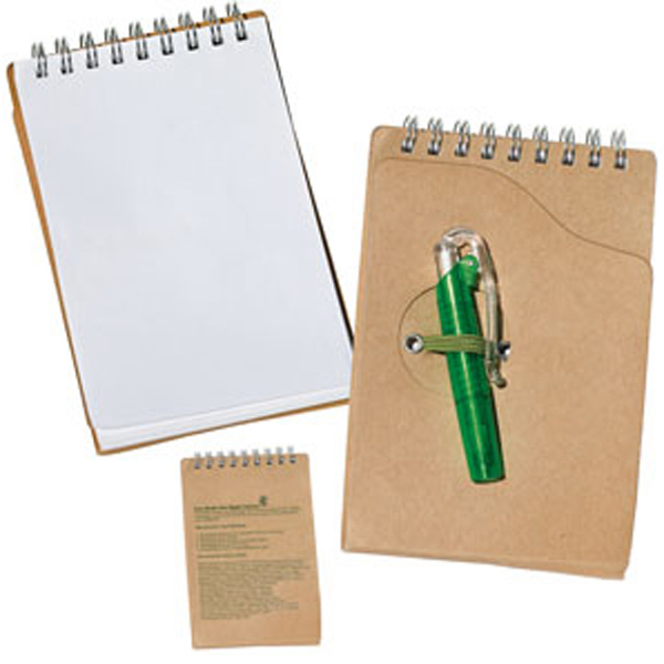 Promotional Elm - Eco Aware Recycled Jotter with Pen