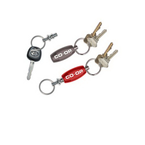 Printed Snap-A-Part Oval Key Ring
