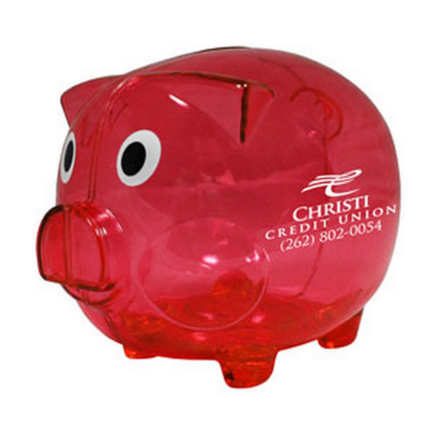 Imprinted Big Boy - Large Piggy Bank