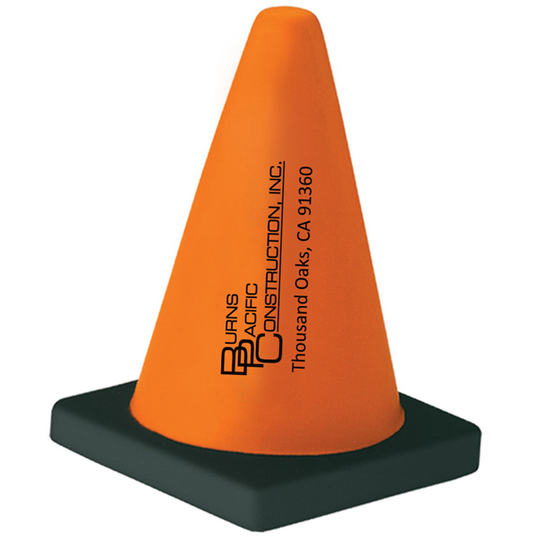 Personalized Construction Cone Stress Reliever