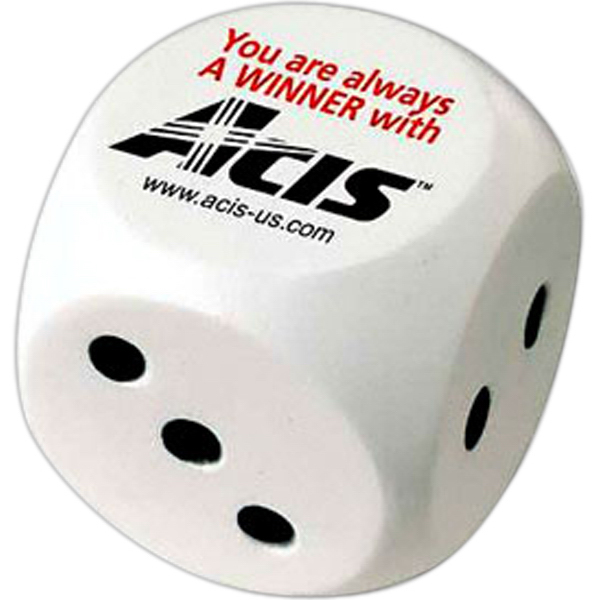 Promotional Lucky Dice Stress Reliever