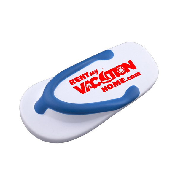 Imprinted Flip Flop Stress Reliever
