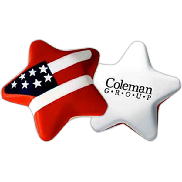 Promotional Star Flag Stress Reliever