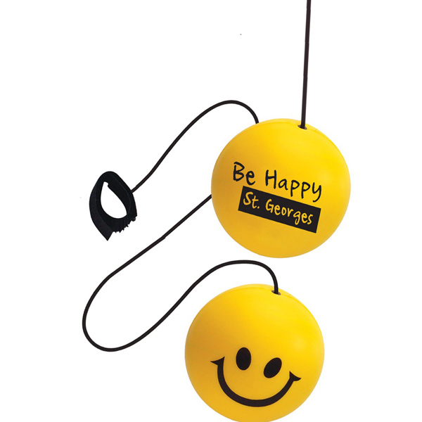 Personalized Happy Face Yo-Yo Stress Reliever