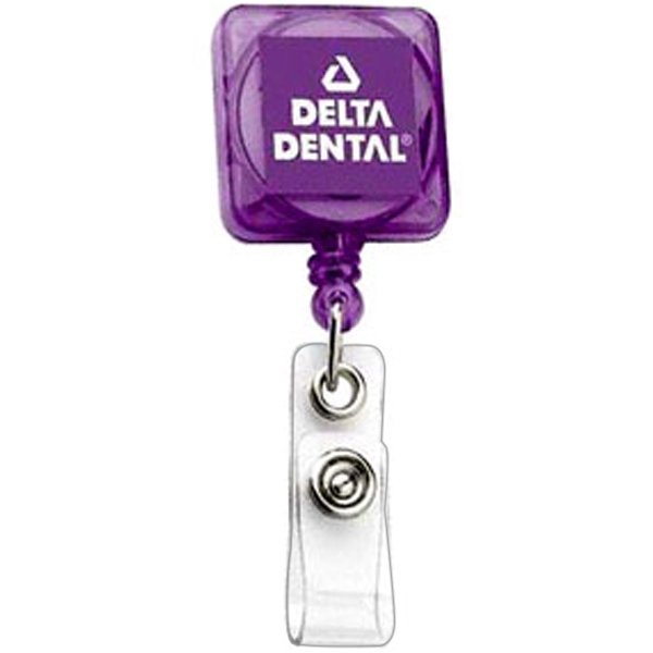 Customized Deluxe Square Retractable Badge Holder