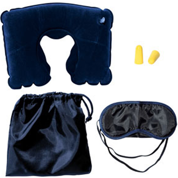 Imprinted Captain Travel Kit with Neck Pillow