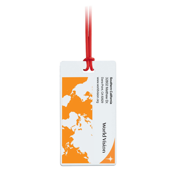 Imprinted Travel Slip-In ID Luggage Tag