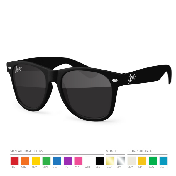 Personalized Wayfarer Sunglasses w/ Silk Lens Imprint