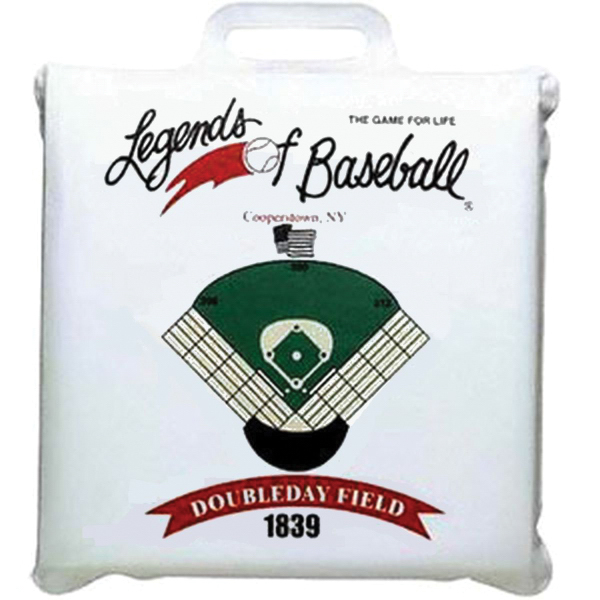 "Customized Square Vinyl Stadium Cushion - 1"" Thick"