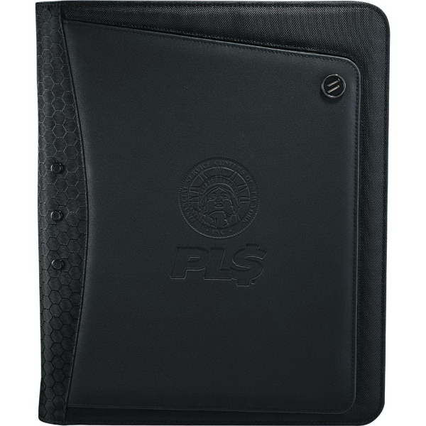 Personalized Elleven (TM) Vapor Zippered Padfolio