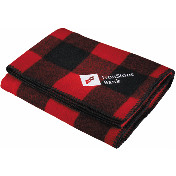 Imprinted Woolrich (R) Rough Rider Throw