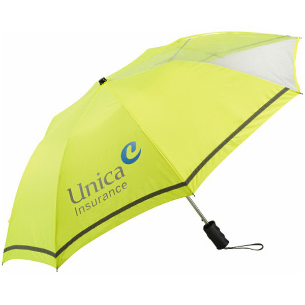 "Personalized 42"" Clear View Safety Umbrella"