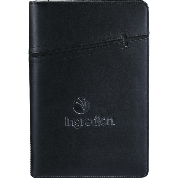 Printed Cross (R) Jr. Zippered Padfolio